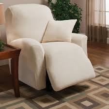 Stretch Slipcovers For Recliners Madison Home Stretch Microfleece Box Cushion Recliner Slipcover
