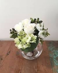 silk flower arrangements fake silk flower arrangement w artificial water rose hydrangea berry