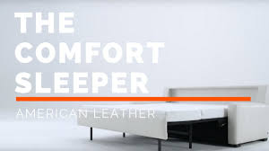 american leather comfort sleeper youtube