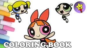 powerpuff girls coloring book buttercup bubbles blossom coloring