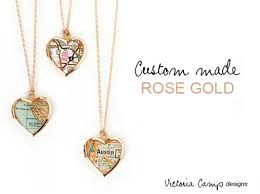 custom locket necklace custom small gold map heart locket necklace on gold chain