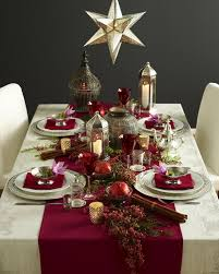Lantern Decorating Ideas For Christmas Dining Room Festive Christmas Dinner Table Decorating Ideas To