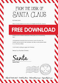 personalized letter from santa 20 free christmas printables santa holidays and free