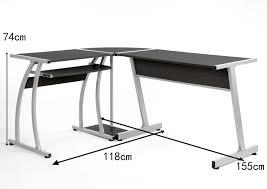 White Gloss Corner Desk Black Computer Desk Pc Corner Table High Gloss Home Office