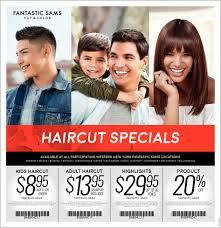 haircut specials fantastic sams cut and color buffalo ny