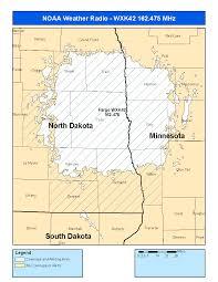 Map Of Fargo Noaa Weather Radio Wxk42