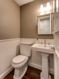 Diy Powder Room Remodel - crisp clean lines and neutral colors dominate this small