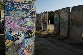 slabs of the berlin wall become art