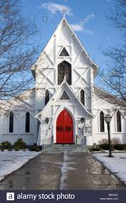 Decoration For Christmas In Church by A Church In New England Is Decorated For Christmas With A
