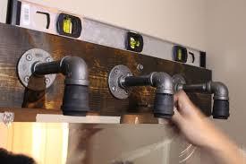 Industrial Bathroom Lights Bathroom Diy Industrial Bathroom Light Fixtures