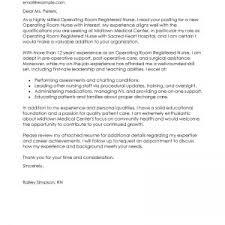 operating room nurse cover letter 6 nursing cover letter examples