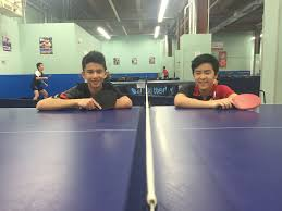 maryland table tennis center unlikely duo of table tennis players derek nie and klaus wood