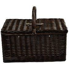 Picnic Basket Set For 4 At Ascot Surrey Willow Picnic Basket With Service For 2 With