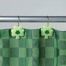 Shamrock Decorations Home 6 99 Shamrock Shower Curtain Hooks Orientaltrading Com Luck