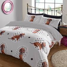 Leopard Print Duvet Animal Print Duvet Cover With Pilllowcase Bedding Set Spotty Dog