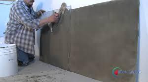 Parge Basement Walls by Avrocon Finalcrete Parge Job Youtube