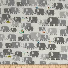 cloud 9 happy drawing organic elephants grey discount designer