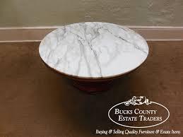 Pedestal Coffee Table Round Weiman James Mont Round Marble Top Pedestal Coffee Table Marble