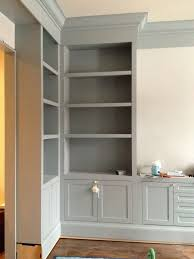 Colored Bookshelves by Gorgeous Gray Cabinet Paint Colors Benjamin Moore Gray And