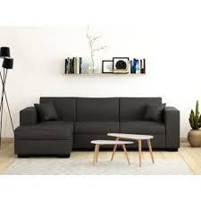 d achant tissu canap 380 sur canapé d angle convertible avec coffre tissu gris fuji xl