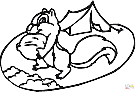 chipmunk at camp coloring page free printable coloring pages