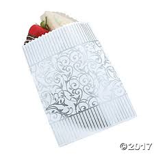 wedding treat bags swirl wedding treat bags