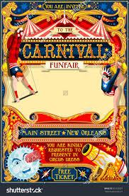 wedding invitation clown birthday greeting card vector show clowns circus juggler show retro template poster invite kids