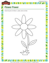 flower power free kindergarten science worksheets of