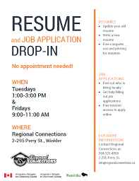 resume writing resume writing and application drop in sessions regional