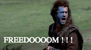 Braveheart Freedom Meme - free freedom gif find share on giphy