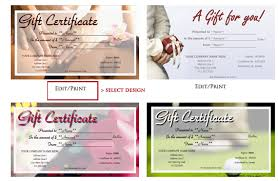 gift certificate printing how to design and print your own gift certificates