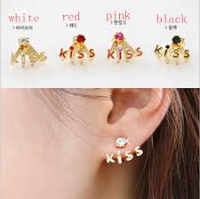 korean earings pair korean style lovely flower earrings stud earring free shiping