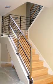 chrome banister rails modern banister rails minimalist staircase