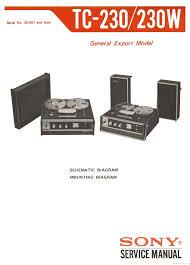 sony tc 230 tc 230w sch service manual download schematics