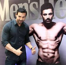 john abraham launches latest issue of men u0027s fitness magazine
