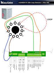 230 volt loop detector to nice a60 control board