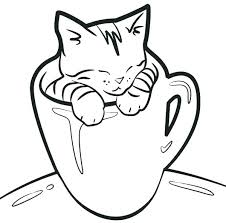 printable coloring pages kittens cat and kitten coloring pages