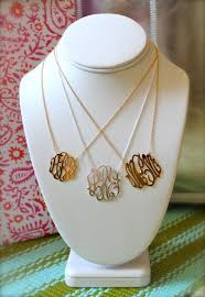 gold monogram initial necklace the best mothers day gift gold silver monogram sizes from left