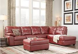 red sectional sofas u0026 couches light u0026 dark red sectionals