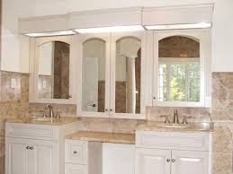 furniture alluring white bathroom vanity with gray mirror