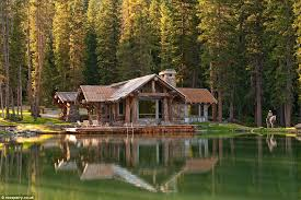 wooden log cabin montana s headwaters c guest cabin comes with elk horn stairs