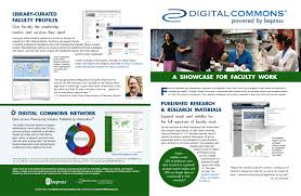 digital commons a showcase for faculty work bepress