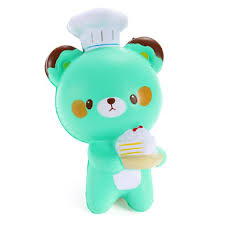 Chef Decor Collection Squishy Bear Baker Chef Jumbo 14cm Slow Rising Collection Gift
