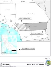 Map Of Riverside County General Plan Environmental Impact Report Volume I