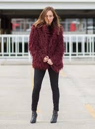 six colorful faux fur coats under 150 winter fashion