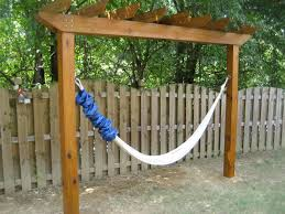 Hammock With Wood Stand Eye Catching Diy Hammock With Stand Hgnv Com