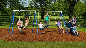 Flexible Flyer Lawn Swing Frame by Amazon Com Flexible Flyer Play Around Swing Set Trapeze Slide