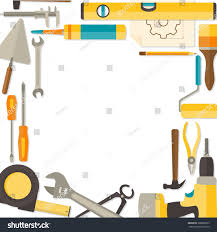 vector flat design background doityourself tools stock vector