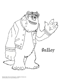 sulley coloring page monsters inc coloring pages and sulley creativemove me
