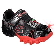 skechers light up shoes on off switch skechers boys star wars darth vadar damager iv turbocharge sneakers